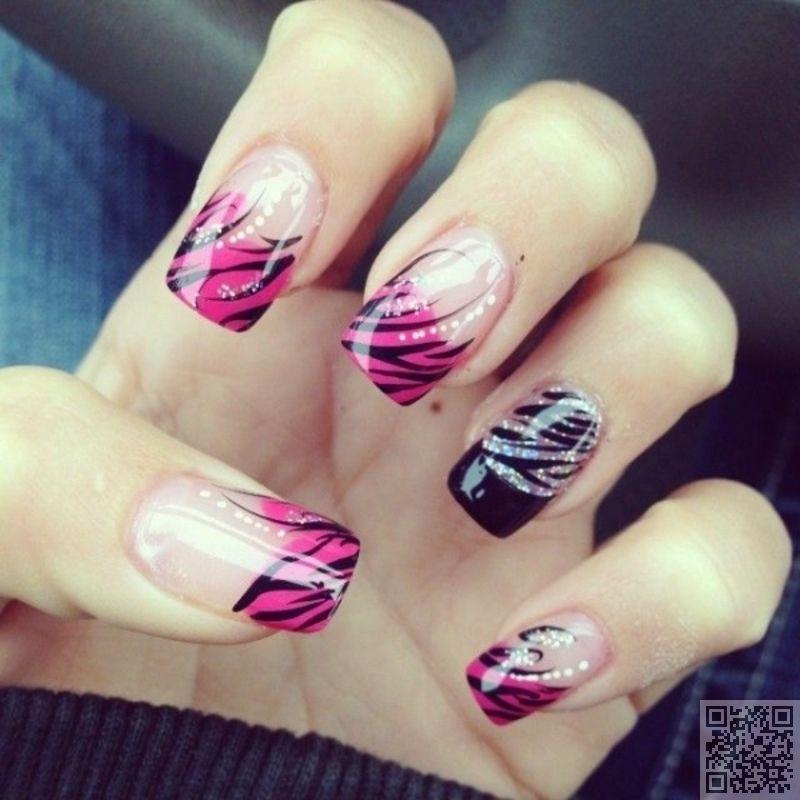 20 zebra print 24 fancy nail art designs that youll love zebra print 24 fancy nail art designs that youll prinsesfo Gallery
