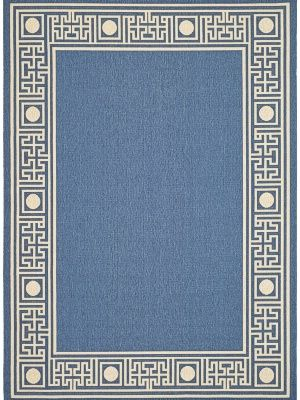 DecoratorsBest - Detail1 - Safavieh CY5143C - Safavieh CY5143C BLUE / IVORY Rug - Rug - DecoratorsBest