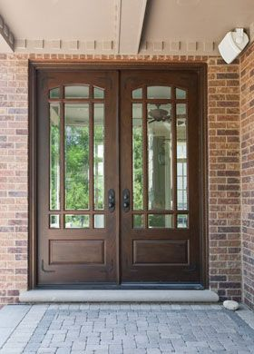 Front Entry Custom Cherry Door Double Clic Collection Solid Wood