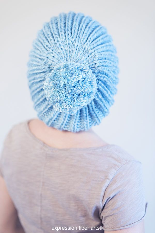 1b5cc46c9b0 Free Knitted Fisherman s Rib Slouchy Hat Pattern
