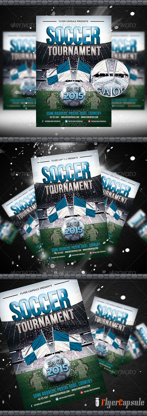 Soccer Tournament Flyer Template Graphicriver Soccer Tournament