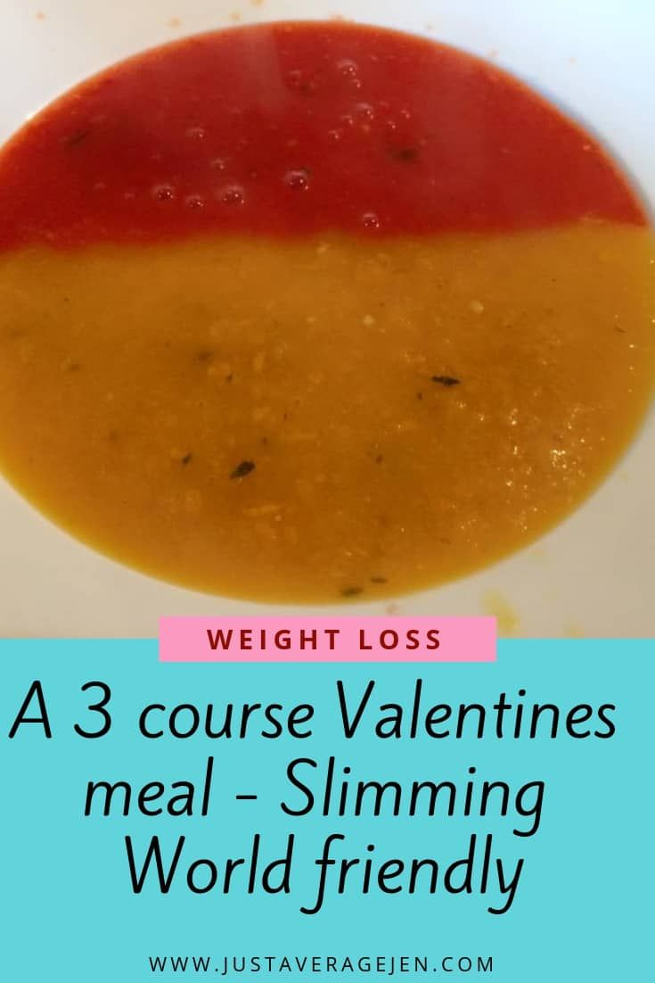 A 3 course romantic meal for two with recipes and Slimming World friendly