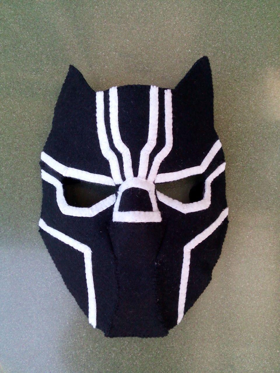 208dea32 Black panther felt mask by Dinofancy Craft   felt diy   Black ...