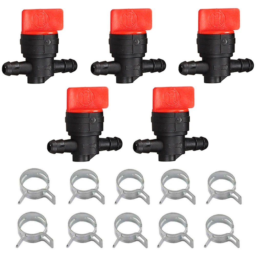 """10 x 1//4/"""" In-Line Straight Fuel Gas SHUT-OFF CUT-OFF VALVES Petcock Motorcycle"""