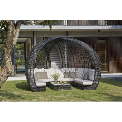 Skyline Design Sparta Patio Daybed with Sunbrella Cushions | Perigold