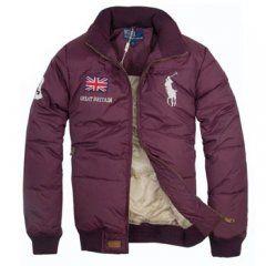 2ae35cca10072 1003 Ralph Lauren para hombre chaqueta acolchada de color rojo oscuro