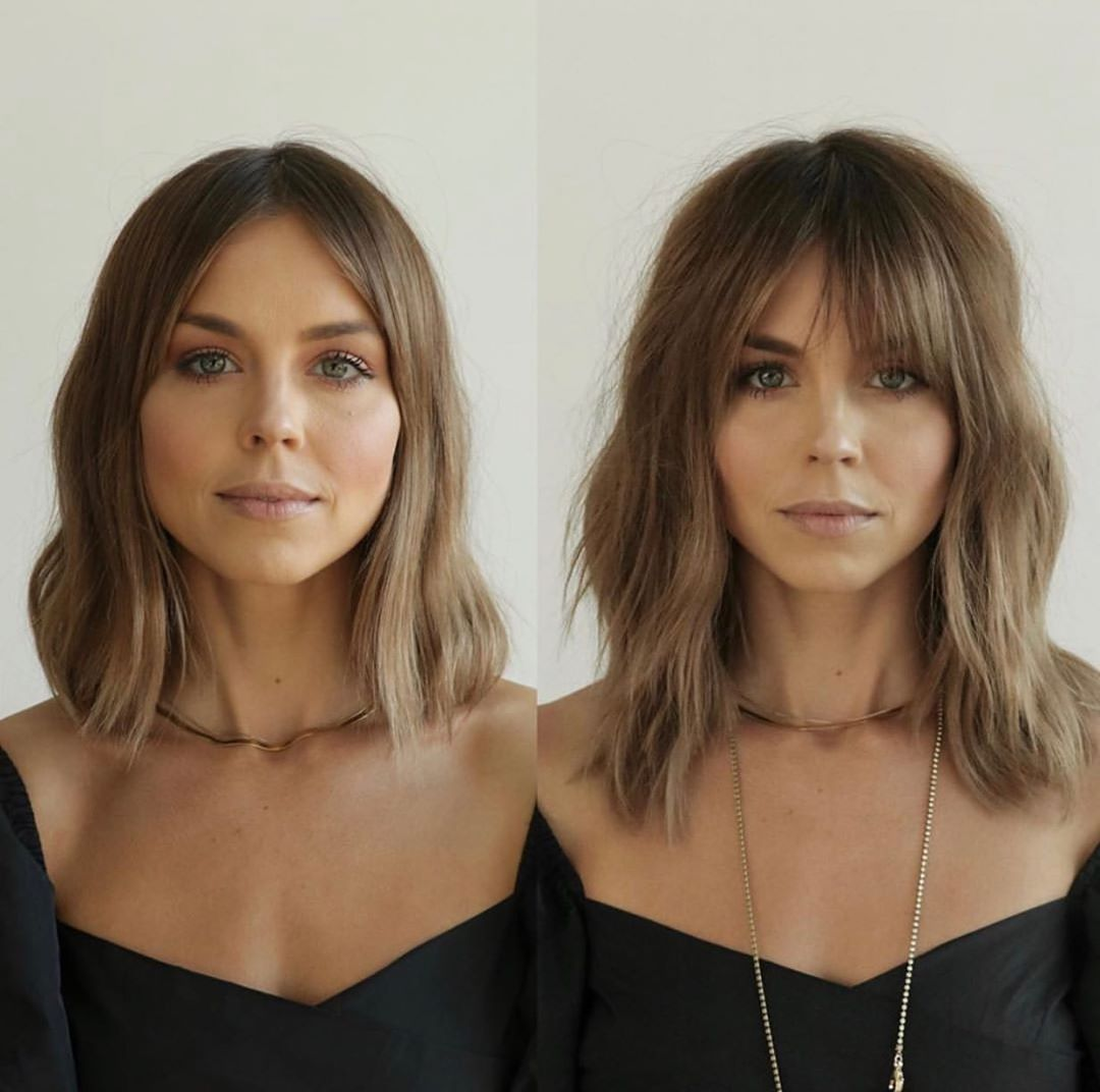 50 Most Trendy and Flattering Bangs for Round Face