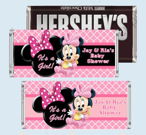 Baby Minnie Mouse Shower Candy Bar Wrers Hershey Wrer Printable