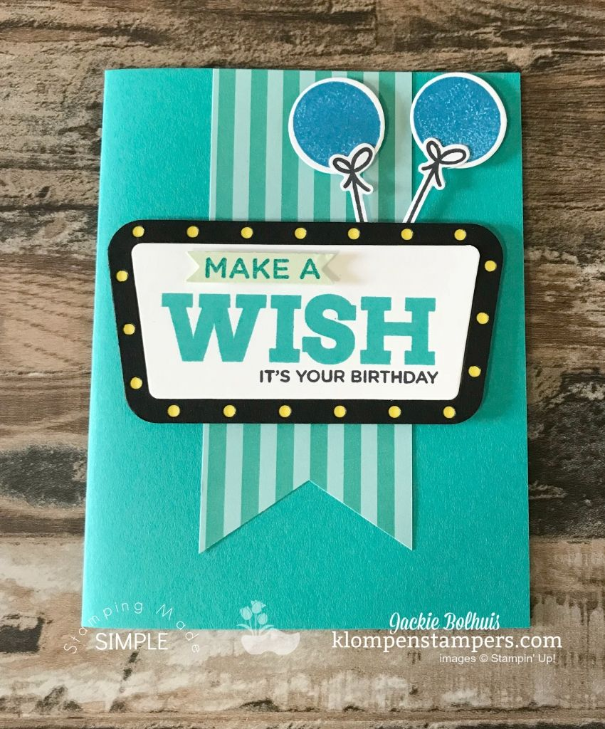 Video Tutorial How To Make A Birthday Card Using Broadway Bundle Jackie Bolhuis With Klompen Stampers Click Watch And Learn More