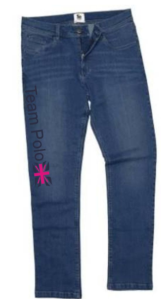 Ladies Team Polo Denim Leggings