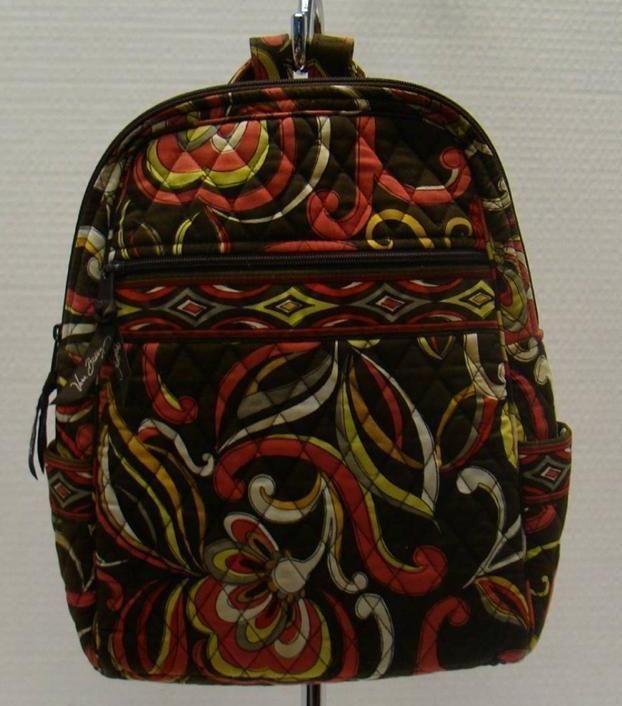 VERA BRADLEY PUCCINI SMALL BACKPACK ADJUSTABLE STRAPS ZIP TOP CLOSURE BAG #VeraBradley #BackpackStyle