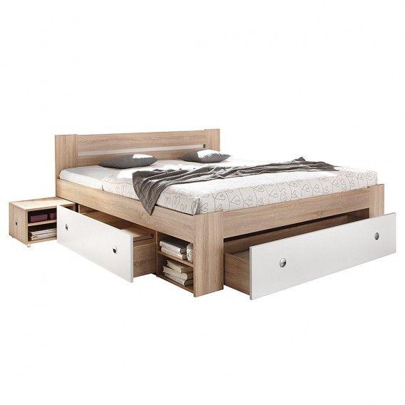Bettanlage Stefan 3 Teilig Bed Box Bed Wood Beds