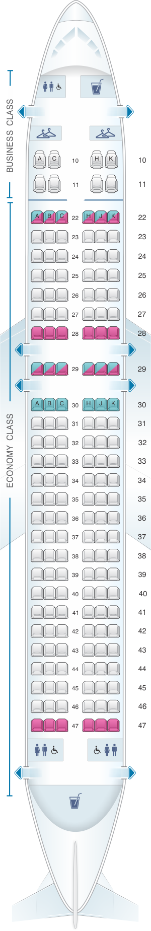 Seat Map Cathay Dragon Airbus A320 200 A32p Cathay Dragon Pinterest Airplane Seats