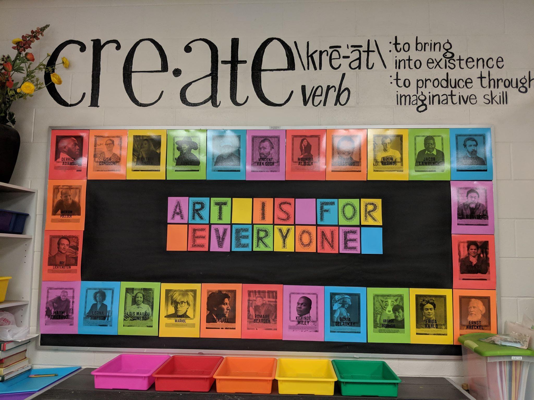 Inspiring Art Rooms Walls Can Teach The Arty Teacher Art Classroom Decor Art Classroom Elementary Art Rooms