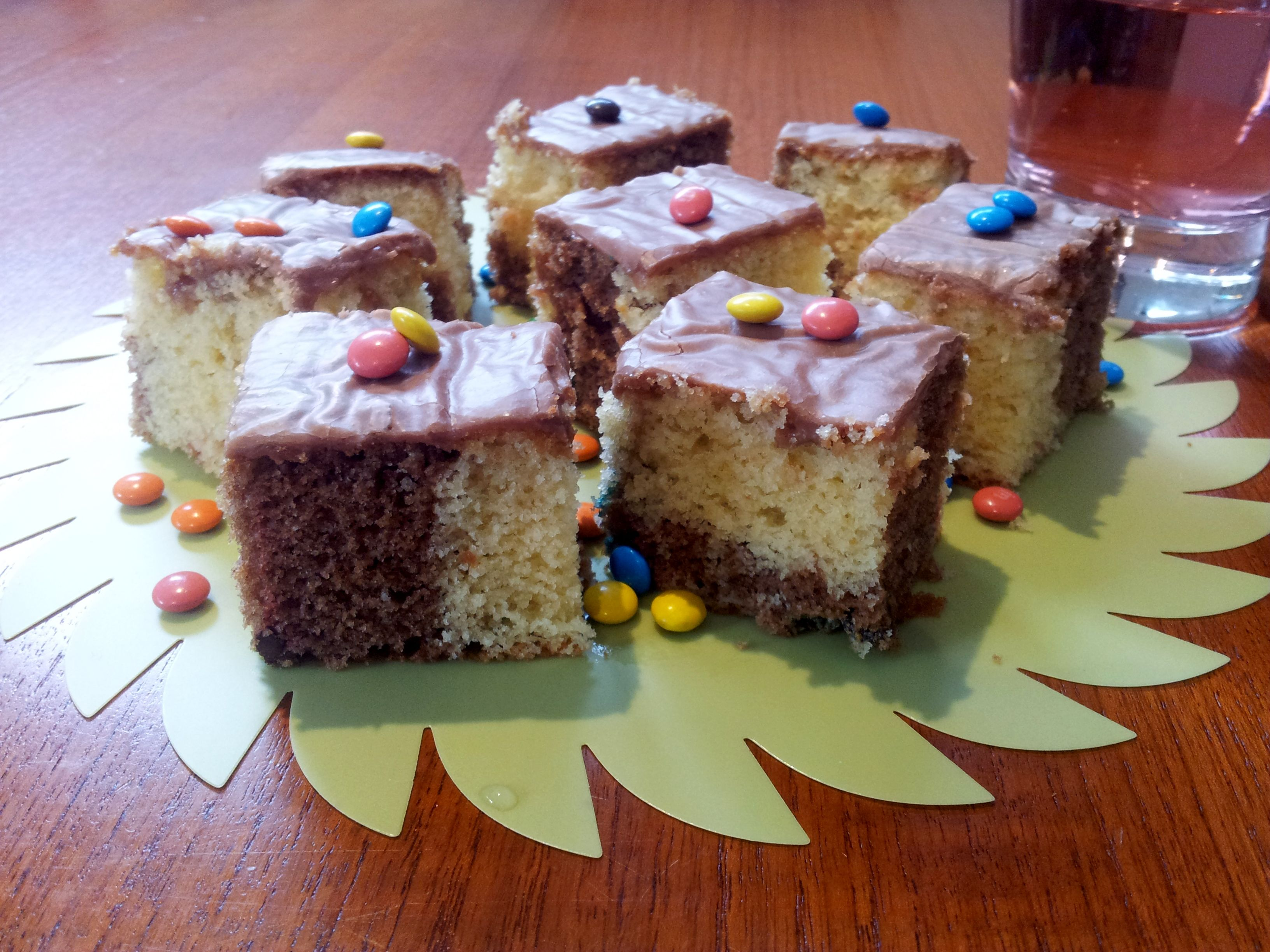 Chocolate chip and vanilla marble cake by mary berry