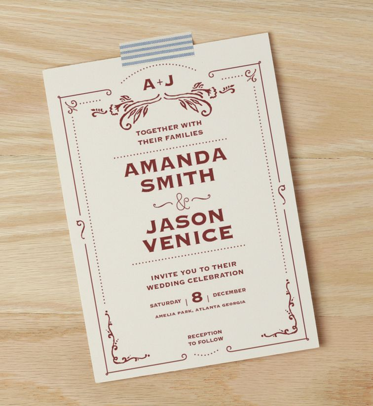 Antique Scroll Wedding Invitations Exclusively From Walmart Stationery
