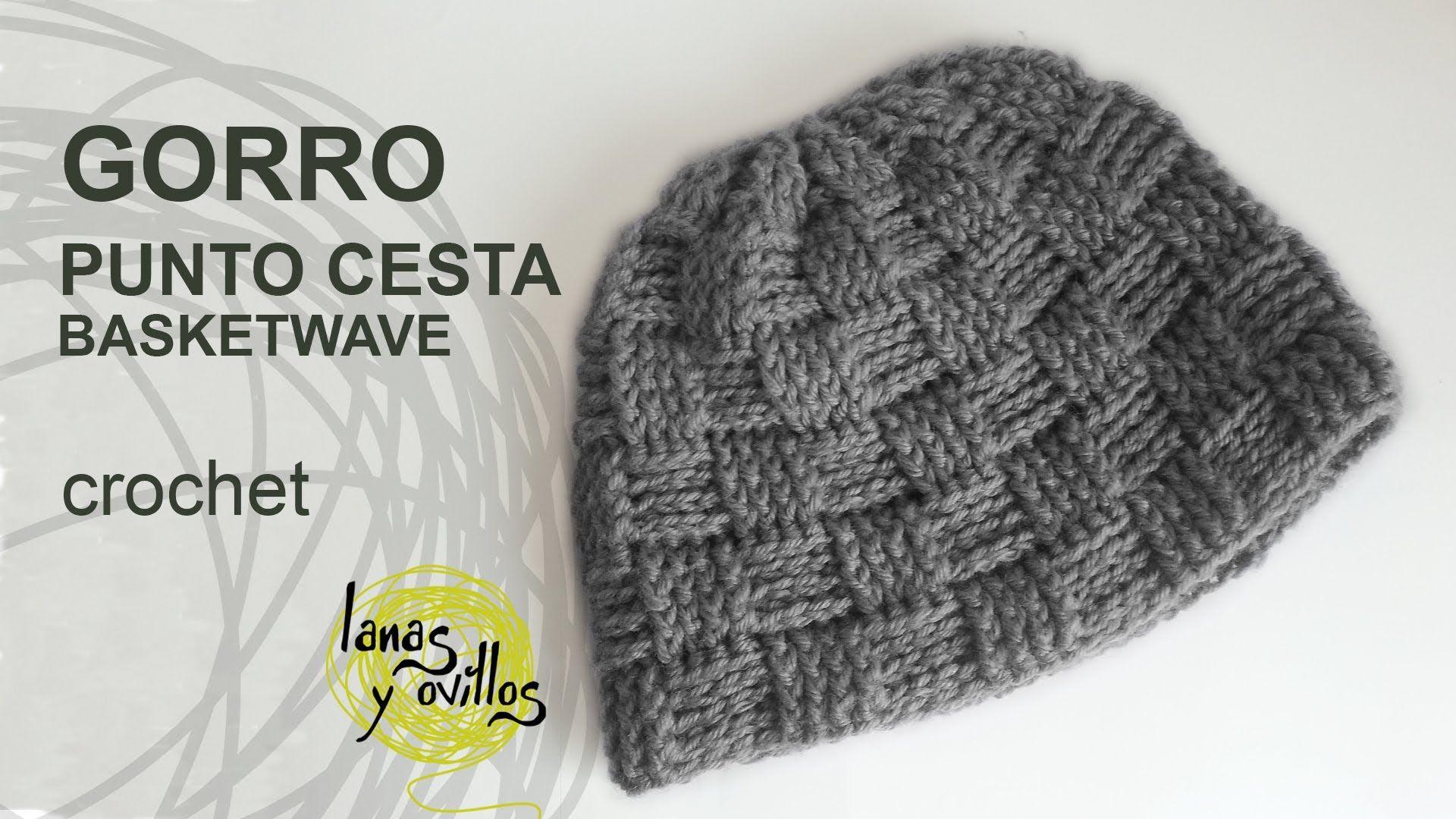 Gorro Unisex Crochet Punto Cesta | gorros ganchillo y otros ...