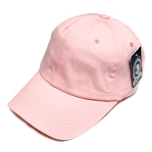 4790a1fed Vintage Washed Cotton Cap Plain Blank Hat Light Pink Adjustable ...
