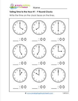 Telling Time Worksheets  Home Life Learning Is Fun