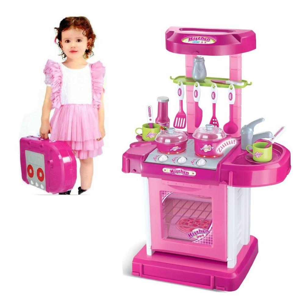Kit Cozinha Infantil Fog O Pia Prateleira Panela Brinquedo