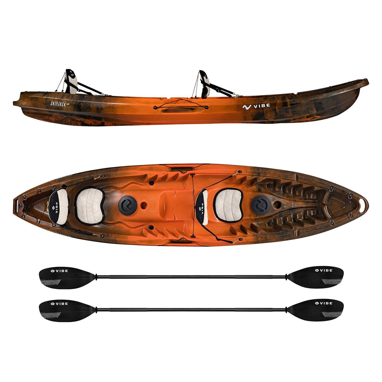 Vibe Skipjack 120T Tandem Kayak fishing, Kayaking, Best