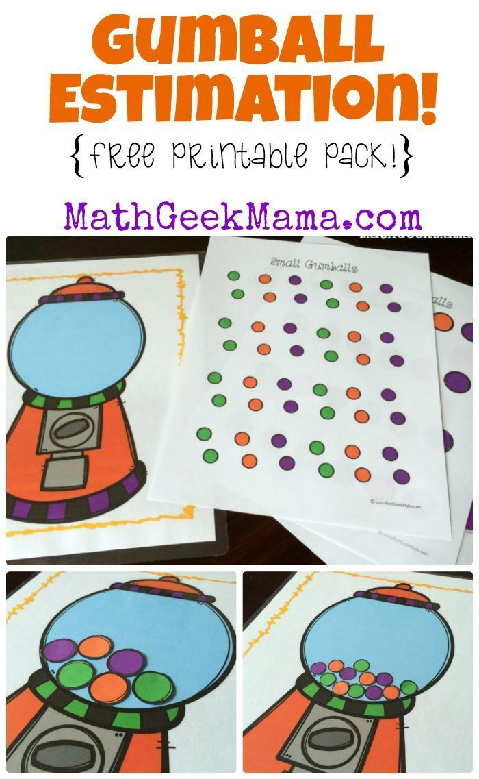 Free gumball estimation activity math for elementary school