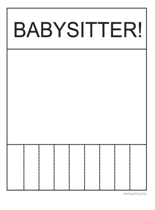 what to include on a babysitting flyer
