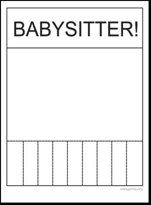 babysitting flyer more