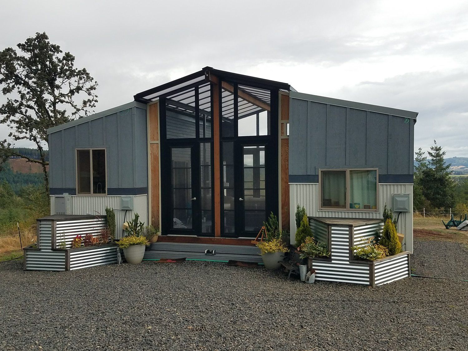 The Ohana 2 24 Tiny Homes Connected With A Sunroom Deck In Between Portland Or Tiny House Listings Tiny House Nation Tiny House Inspiration
