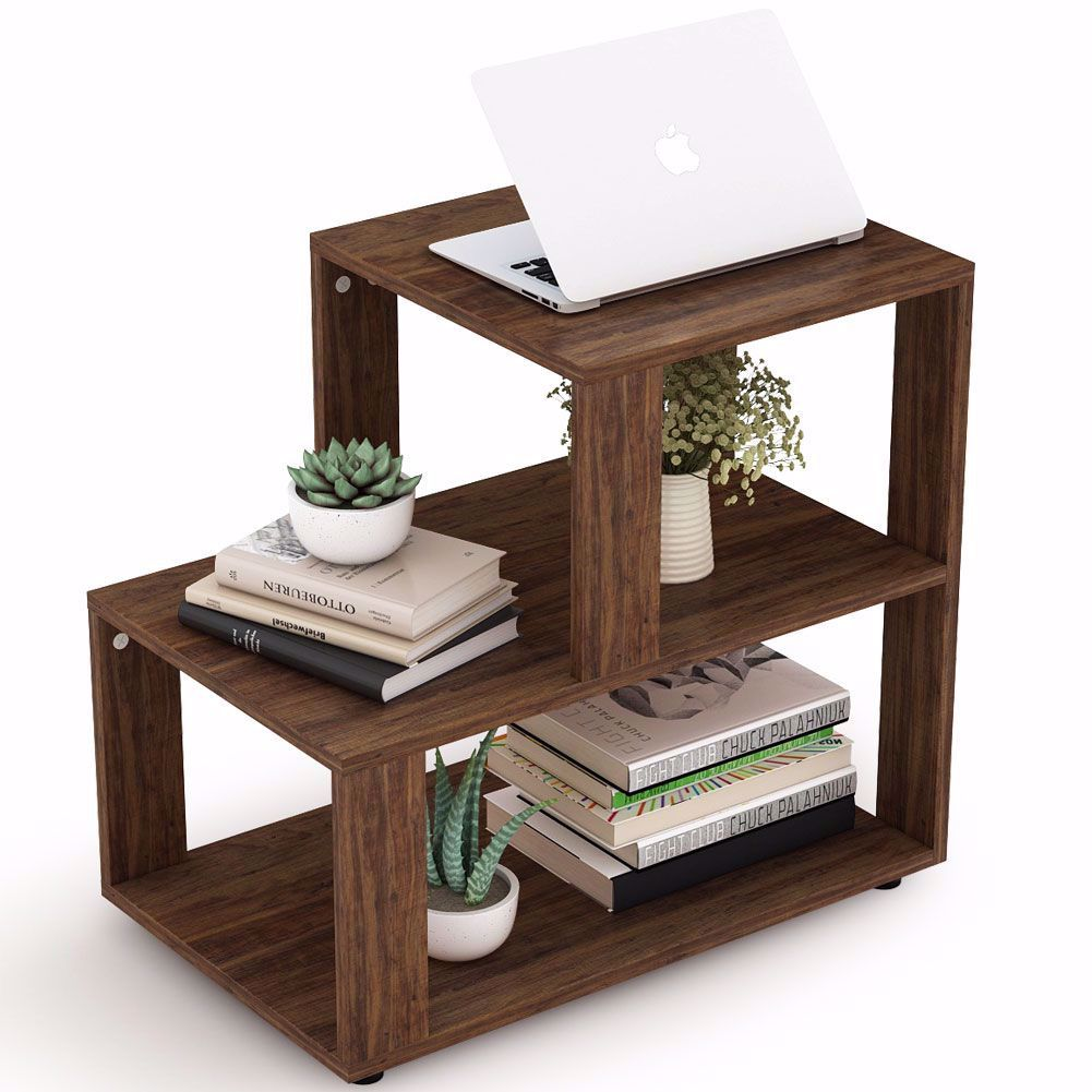 The Convenient Size Designed For Corners And Small Spaces To Dressing Up Your Living Room And Displaying Yo In 2020 Living Room Table Storage Shelves Rustic End Tables