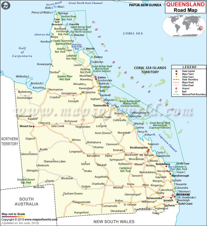 Detailed Map Of Queensland Australia.Pin On Australia Map
