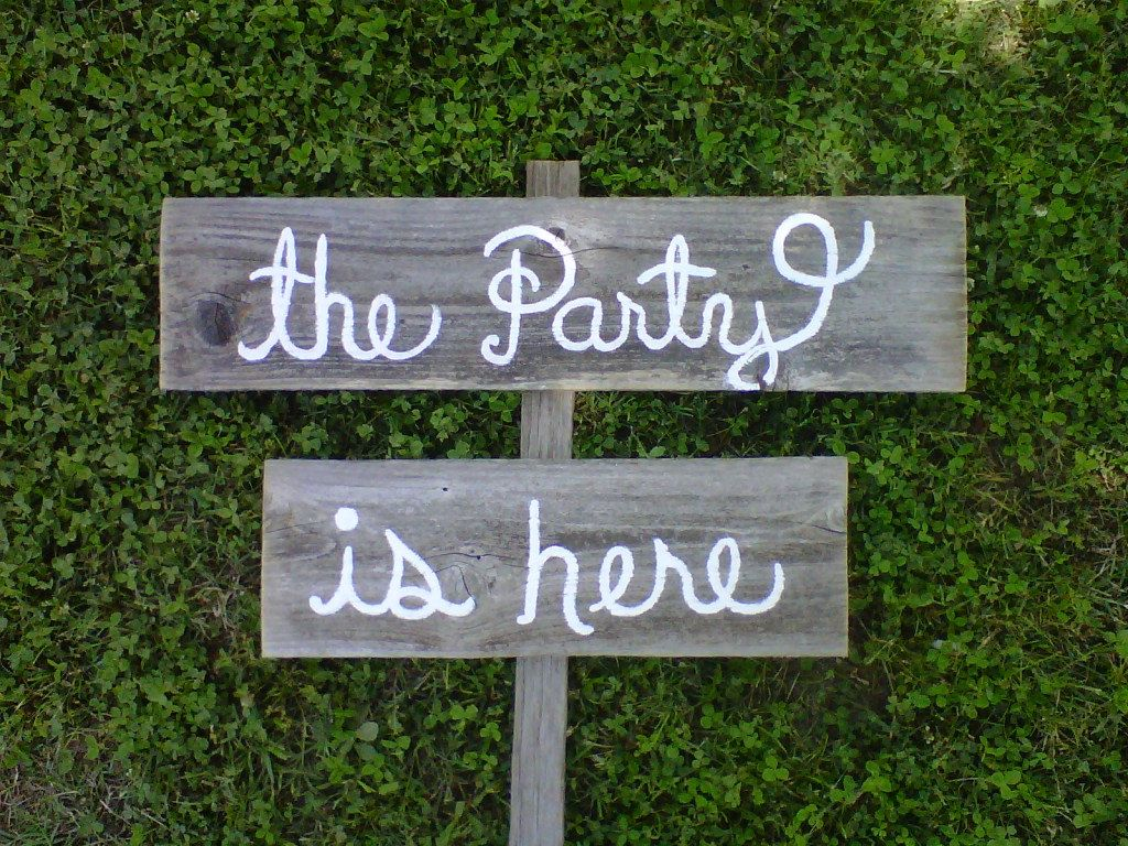 Wedding Signs Cursive Rustic Shabby Country Directional Arrow Road With Stake