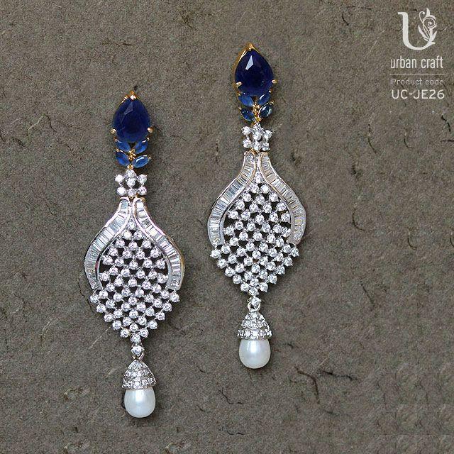 Gracious Blue Online earrings, Blue earrings, Earrings