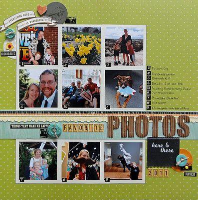 Annual scrapbook pages (Jennifer Larson)