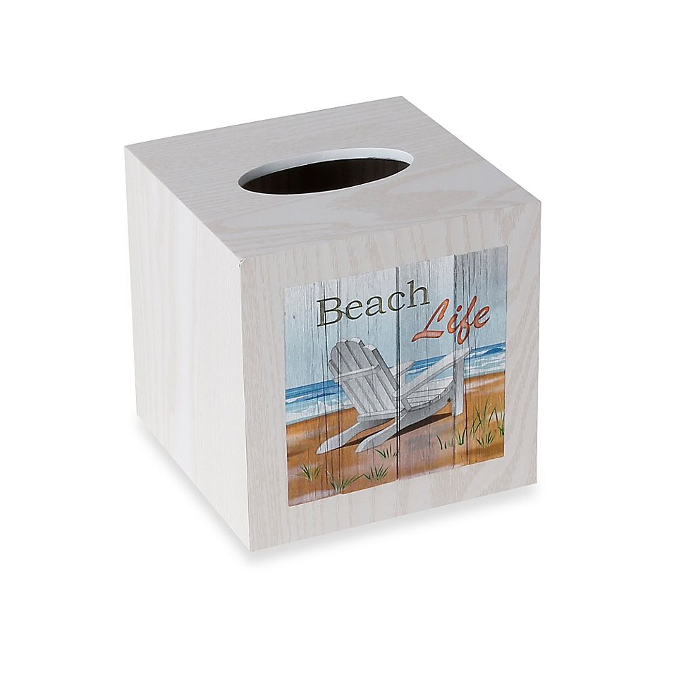 Beach Time Wood Boutique Tissue Box Cover Tissue Box Covers