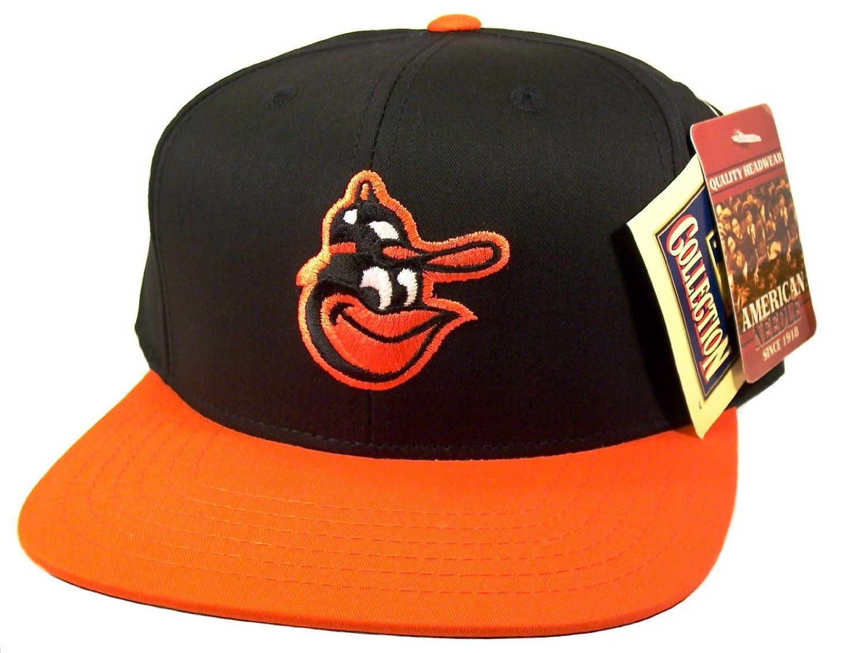 BALTIMORE ORIOLES Retro Old School Snapback Hat - MLB Cap - 2 Tone Black Orange   Amazon.co.uk  Sports   Outdoors c78c04604f1f