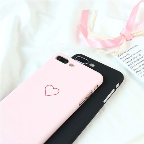 new fashion love heart painted phone case for iphone 5s 6 7 8 plus