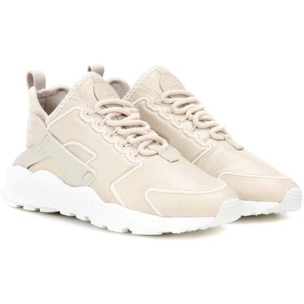 buy online 415bd 0b390 Nike Air Huarache Run Ultra SI Leather Sneakers ( 160) ❤ liked on Polyvore  featuring shoes, sneakers, beige, leather trainers, leather sneakers, beige  ...