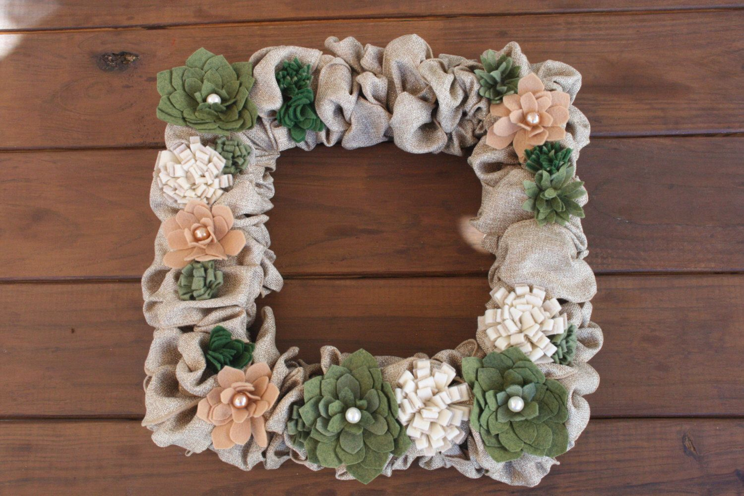 Christmas Wreath Succulent 022 by KKeithDesigns on Etsy https://www.etsy.com/listing/212799153/christmas-wreath-succulent-022