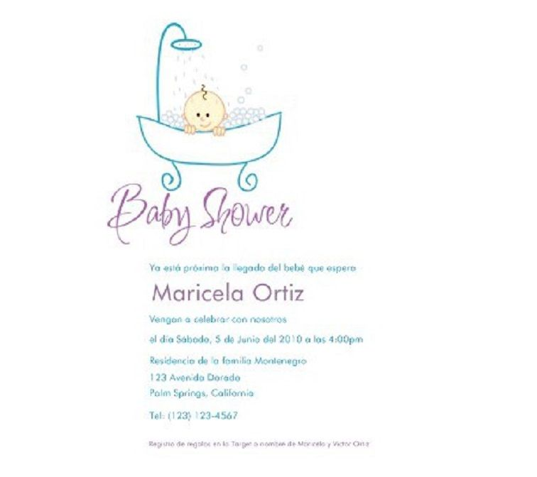 Baby Shower Invitations For Girls In Spanish