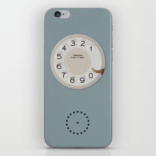 Vintage Dial Phone Blue iPhone & iPod Skin