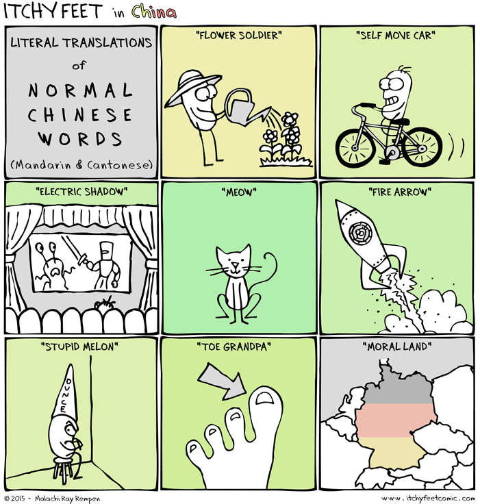 A Travel And Language Comic Silly Memes Chinese Words Fun Comics