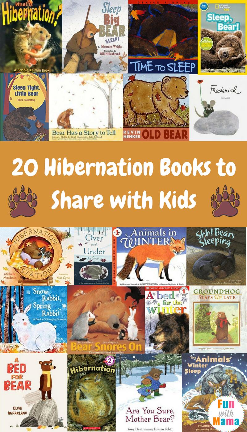 20 Bear Hibernation Books + Animals That Hibernate For
