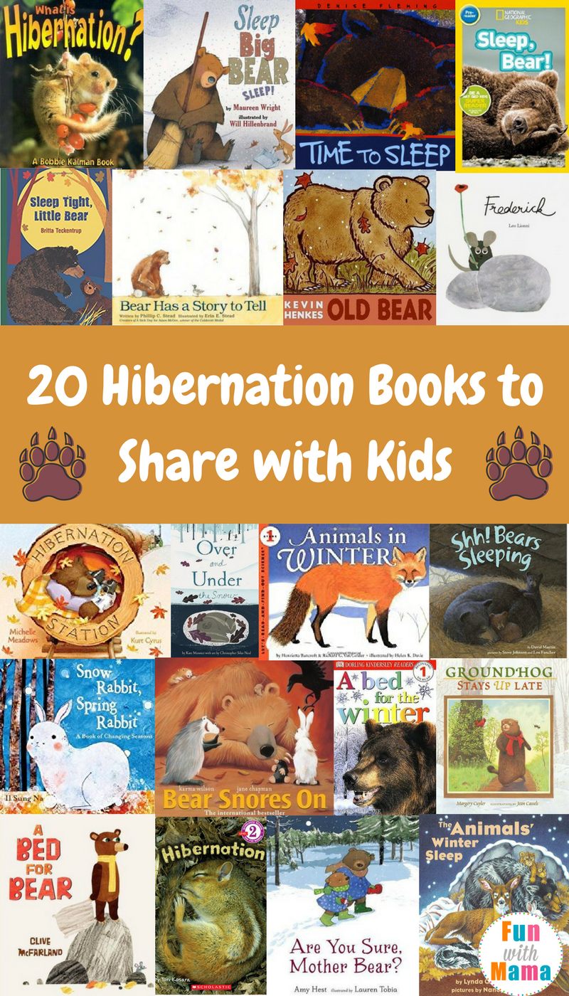 20 Bear Hibernation Books Animals That Hibernate For Kids Fun With Mama Hibernation Books Animals Animals That Hibernate Animal Books Preschool Books [ 1400 x 800 Pixel ]