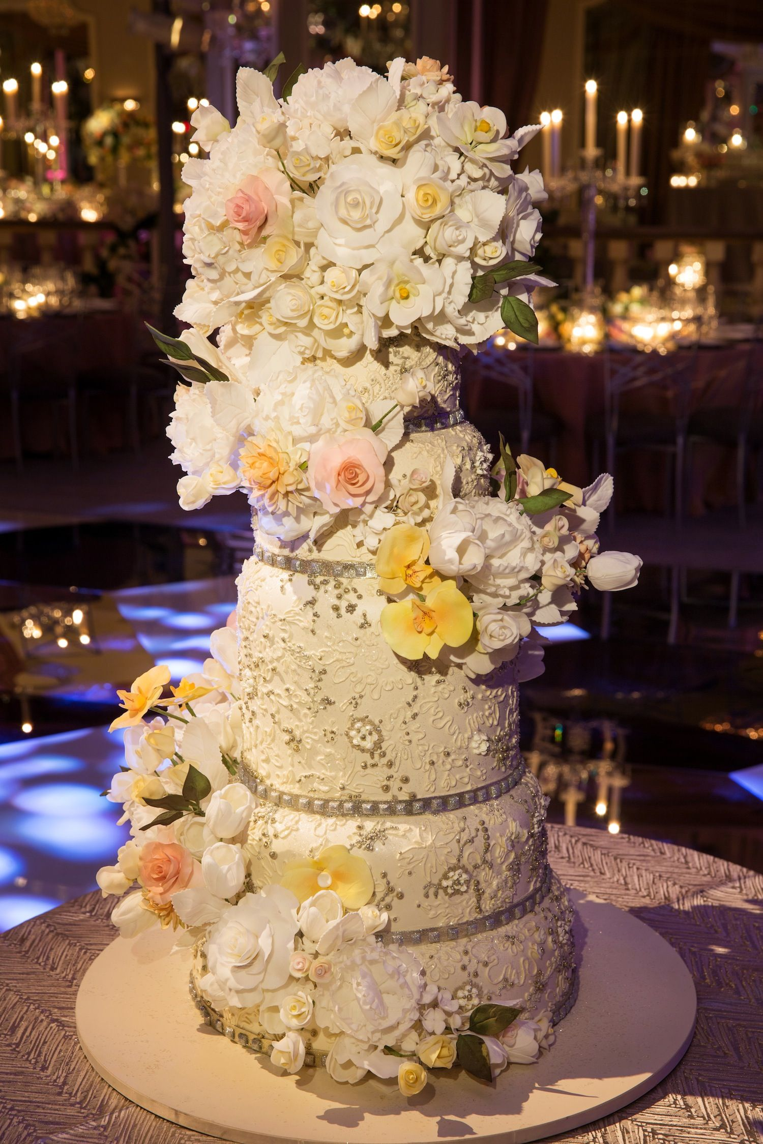 Glamorous Indoor Garden Wedding in New York City | Pinterest | Sugar ...