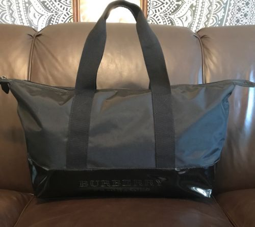 ffe14878bf19 Burberry Fragrance Black Tote Weekender Travel Carry On Shopper Bag Extra  Large