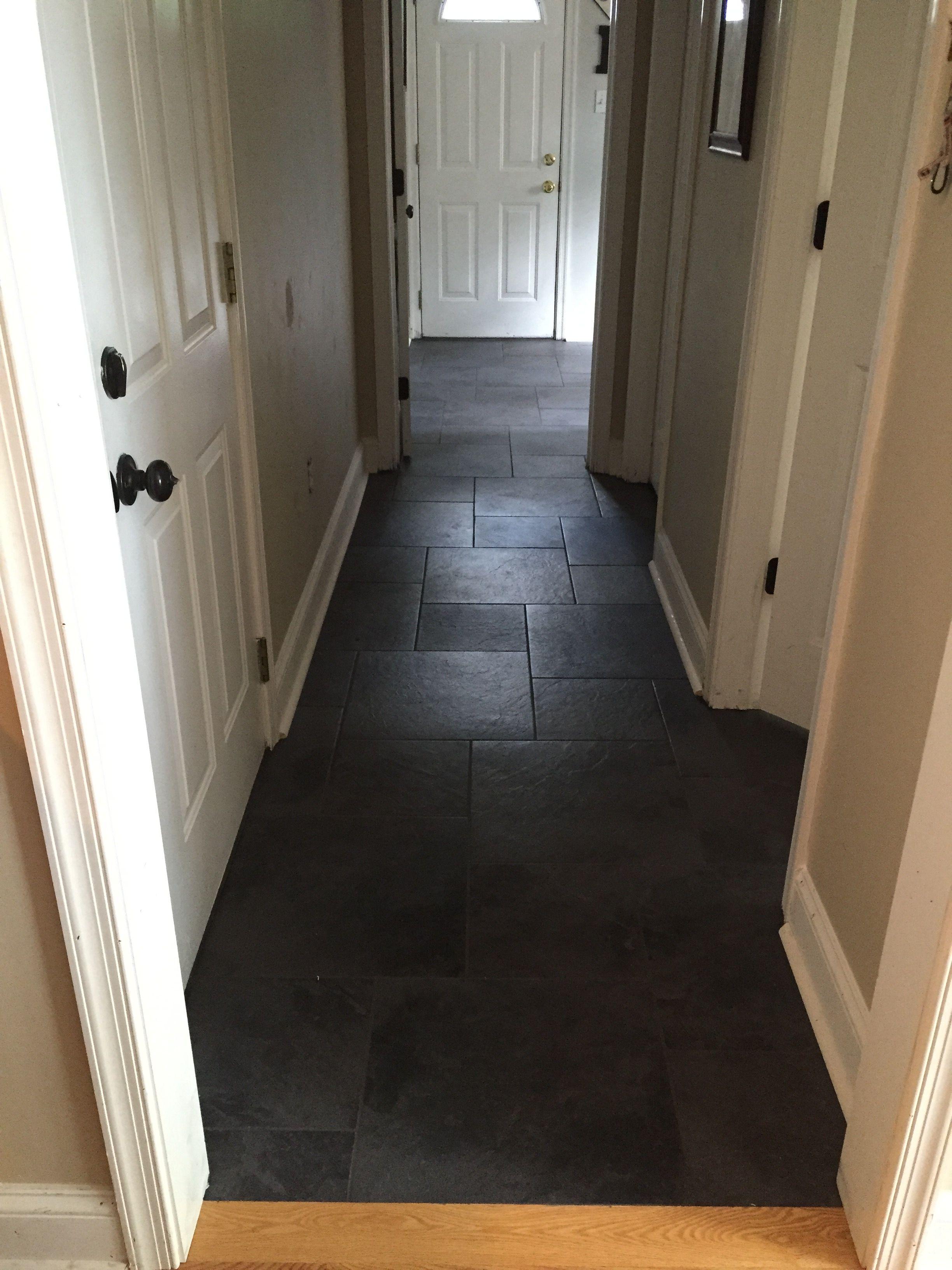 black slate floor dark tile floors