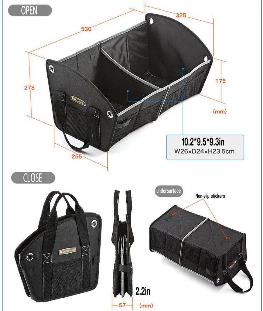 Large Car Boot Foldable Storage Bag Organiser Travel Tidy Box Camping Shopping