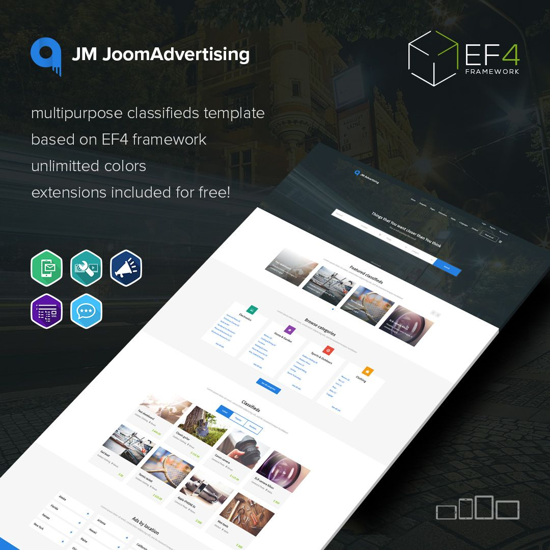Take A Look At Jm Joomadvertising Clifieds Joomla Template That Brings You Everything
