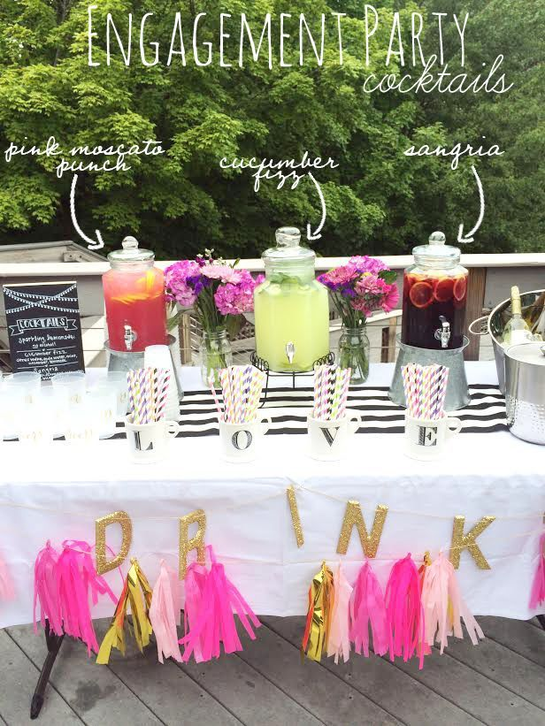 Exceptional Outdoor Cocktail Party Ideas Part - 2: Throwing A Summer Engagement Party Complete With Cocktail Recipes!